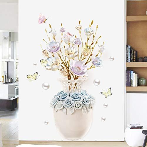 Wandtattoo wandaufkleber kinderzimmer aufkleber kinder tieren schlafzimmer DIY Vase Flower 3D Wall Stickers Creative Decal Home Decor Self-adhesive Wallpaper Living Room Bedroom Kitchen Stickers