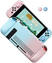 Dockable Case for Nintendo Switch, Protective Cover Case for Nintendo Switch and Joy-Con Controllers (Blue-Pin