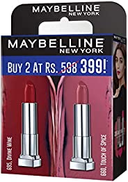 Maybelline Creamy Matte Divine Wine & Touch of Spice (Pack o