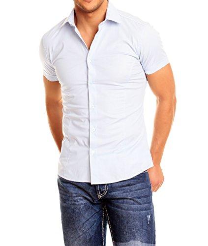 Chemise homme manches courtes Blanc