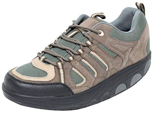Dynamic24 AKTIV Herren Schuhe mit Spezial Rundsohle Gondelschuhe (41)