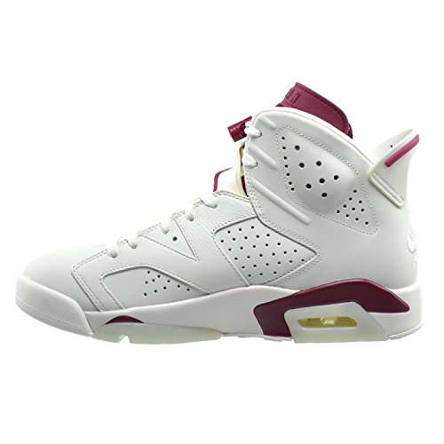 Nike Air Jordan 6 Retro, Chaussures de Sport Homme, Blanc, For Men off white, new maroon