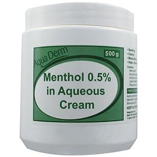 Rxfarma-AquaDerm 500g Menthol in Aqueous Cream Tub 0.5 Percent