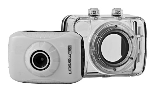 Emerson EVC355WH HD Sports Action Video Camera Kit With Waterproof Case