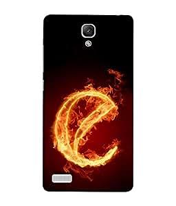 PrintVisa Letter E Fire Alphabet 3D Hard Polycarbonate Designer Back Case Cover for Xiaomi Redmi Note :: Xiaomi Redmi Note 4G :: Xiaomi Redmi Note Prime