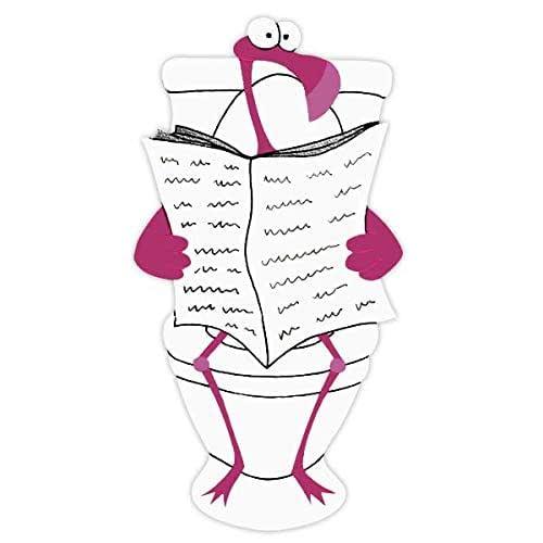 Plaque de porte de toilettes flamant rose, signalétique toilettes humoristique