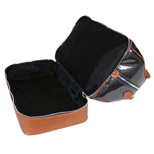 Terrida Carbonio sac à double fond - CB079 (Cuoio) Orange