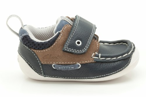 Clarks Boys Cruiser tablier pré Walker chaussure Navy Combi