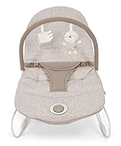 Mamas & Papas Baby Vibrating Bubble Bouncer Button Bear Chair - Suitable From 0-6 Months