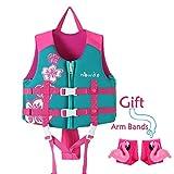 Zeraty Kids Schwimmweste Schwimmweste für Kleinkinder mit Armbändern Floatation Sleeves Alter 1-9 Jahre / 22-50 £ / Rosa