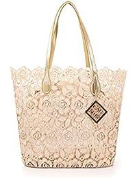 aa9f229121 CAFéNOIR IBP961 borsa donna shopping bag in pizzo cipria