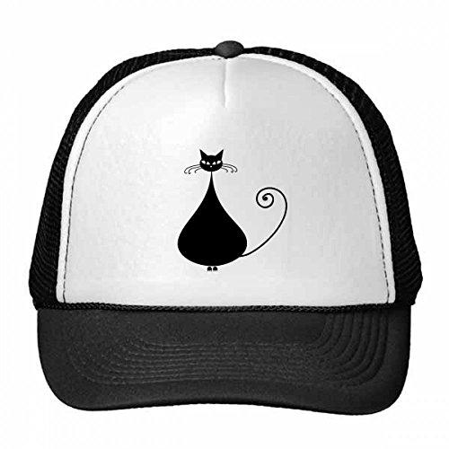 ebhaber Halloween-Tier-Kunst-Silhouette Trucker-Mütze Baseballmütze Nylon Mütze justierbare Kappe Adult Schwarz ()