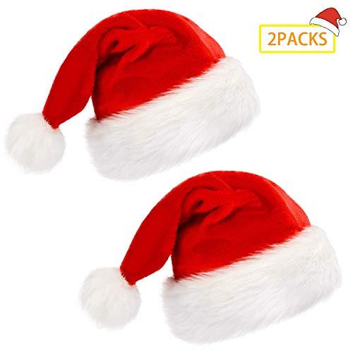 2Paquete gorro de Papá Noel