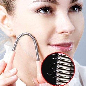 1PC Gesichts-Haarentfernung Stick Epilator Epistick Edelstahl Coil Frühling Gesicht Haarentfernung Epilierer Neues Werkzeug für Backen Linie Wangen bereinigen die unerwünschten Haare