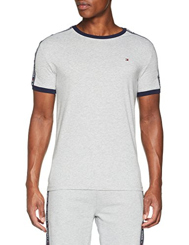 Tommy Hilfiger Herren Rn Tee Ss T-Shirt, Grau (Grey Heather 004), Small