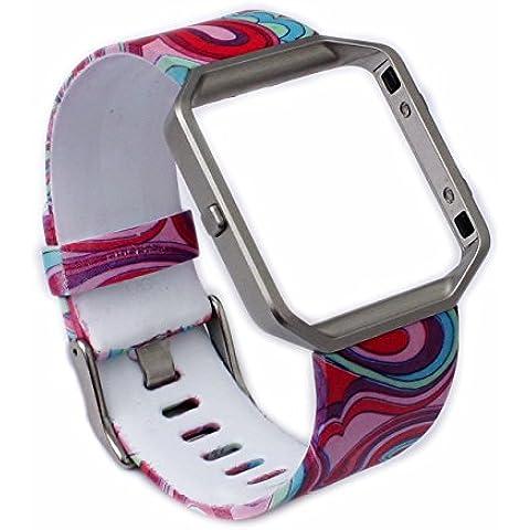 Greatfine Reloj de la Banda de Muñeca Reemplazo Pulsera Ajustable Correa para Fitbit Blaze (Rainbow)