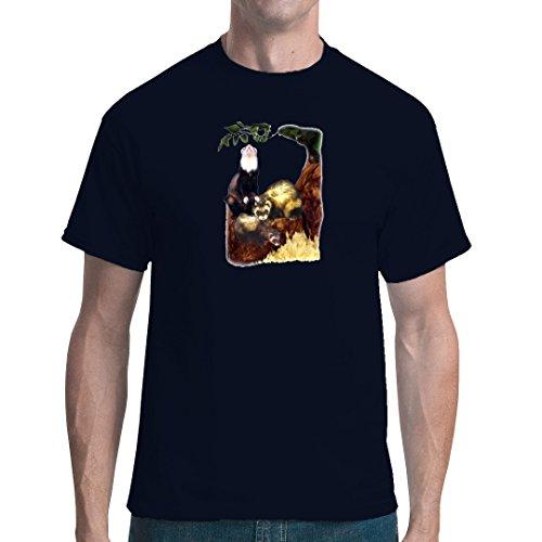 Fun unisex T-Shirt - Frettchen by Im-Shirt Navy