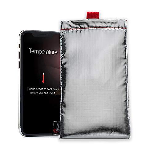 Phoozy Apollo Plus I Custodia Termica Per Smartphone I Astuccio Con Rivestimento Morbido I Protegge Dal Surriscaldamento, Congelamento | Aiuta a Risparmiare Batteria - Argento