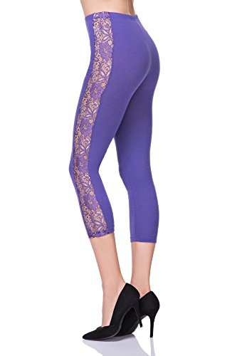 FUTURO FASHION Damen Leggings Violett
