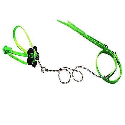 SODIAL(R) Reptile Lizard Harness Leash Adjustable Light Soft Fashion(Green) 1
