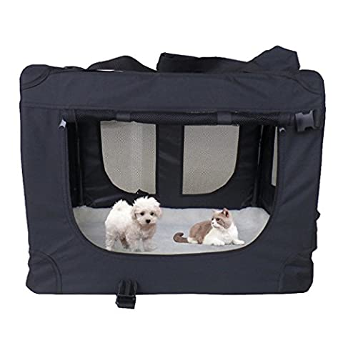 MC Star Dog Pet Puppy Fabric Portable Carrier Foldable Kennel Crate Bag,cage, Extra Large,82 X 58 X 58cm,