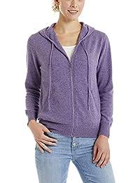 Invisible World Sweatshirt Cardigan Femme 100% Cachemire avec Capuche et  Poches e964d6cabc2