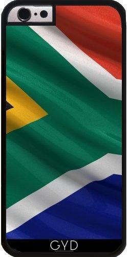 Leder Flip Case Tasche Hülle für Apple iPhone 6/6S - Flagge Von Südafrika by Carsten Reisinger Starre Kunststoff