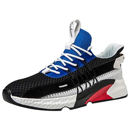 ALIKEEY Gli Uomini Hanno Tessuto Le Scarpe da Tennis Traspiranti della Piattaforma Le Scarpe da Corsa Casuali della Maglia All'Aperto, Running Basse Basket Sport Outdoor