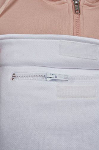 Urban Classics Ladies Color Block Pullover, Sweat àCapuche Femme Mehrfarbig (Lightrose/Grey/White 01329)