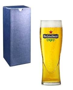 Cadeau personnalisé gravé 1 pinte de bière Heineken en verre avec boîte cadeau