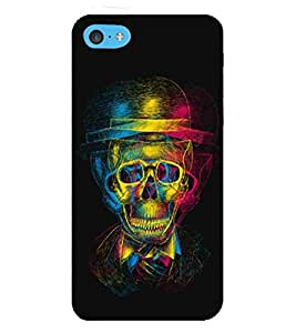 For Apple iPhone 5c beautiful couple ( beautiful couple, nice couple, black background, cartoon, couple with feather ) Printed Designer Back Case Cover By TAKKLOO