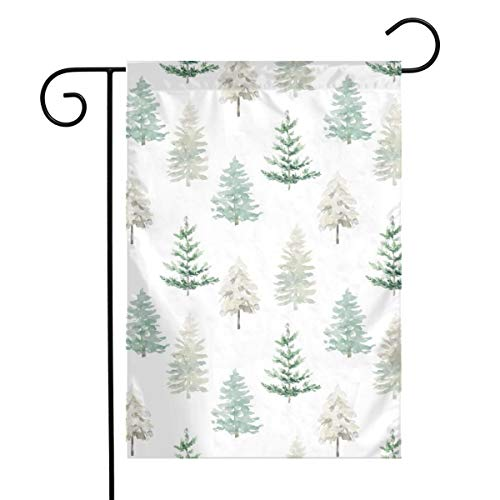 Winter Forest White Art Garden Flag Yard Flag 12