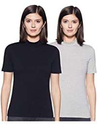 Amazon Brand - Symbol Women's Plain Slim Fit T-Shirt