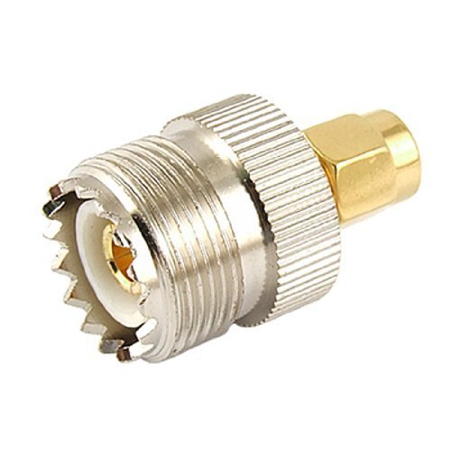 TOOGOO(R) UHF SO239 femelle vers SMA male Connecteur/Adaptateur coaxial