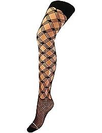 Damen Netzstrumpfhose mit Hosenteil