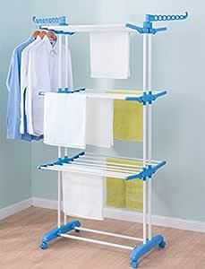 PAffy 2 Poll 3 Layer Cloth Drying Stand - Prince Jumbo (Multi-Color)