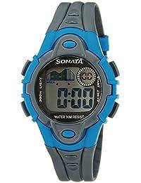 Sonata Super Fibre Digital Grey Dial Men's Watch -NM87012PP03 / NL87012PP03
