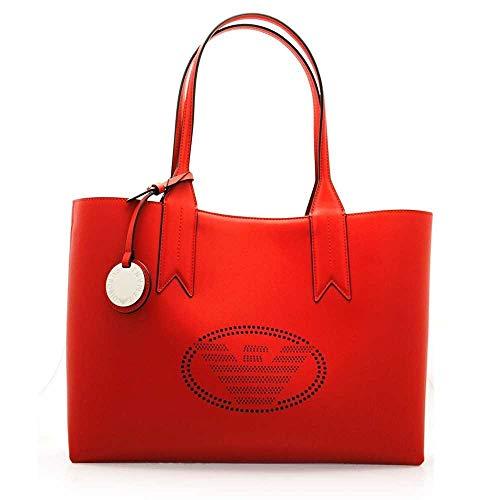 Emporio Armani Logo Shopping Damen Handtasche Rot