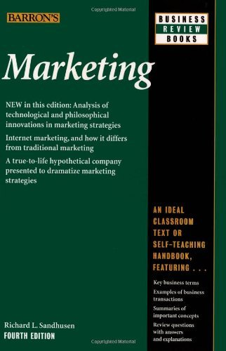 Read Marketing Author Richard L Sandhusen Aug 2008