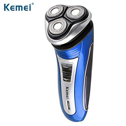 Elektrorasierer Herren 3D Rotationsrasierer, Rasierer Elektrische Rasierapparat Männer Gesichtspflege, Präzisionstrimmer Bartschneider