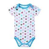 Styledress Baby Kleidung Set Strampler Overall Sommer Neugeborenes Baby Mädchen Jungen Karikatur gedruckt Strampler Jumpsuit Outfits Spielanzug Kleider Set (Blau#1, 0-3 Monate)