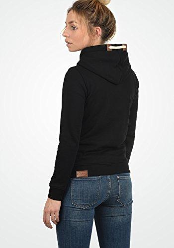DESIRES VickyHood Damen Damen Hoodie Kapuzenpullover Pullover Mit Kapuze Cross-Over-Kragen Und Fleece-Innenseite, Größe:S, Farbe:Black (9000) - 5