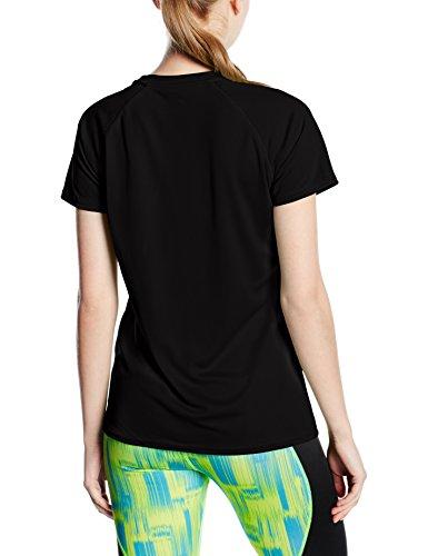 Fruit of the Loom Damen T-Shirt Ss075m Schwarz