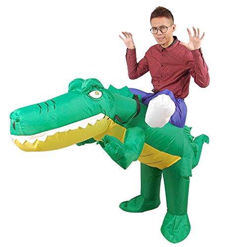 ypyrhh Traje Hinchable, Disfraz de Halloween, Ropa de cocodrilo Inflable, montador de Animales de Dibujos Animados, Modelo Inflable, Adecuado para Actividades de Adultos