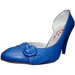 Sixty Seven Pumps 285363 blau Leder, Groesse:36.0