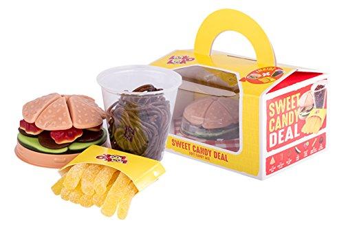 Fruchtgummi Happy Meal, Sweat Candy Deal, Burger, Pommes und Cola aus Fruchtgummi, die leckere Alternative für Fast Food, 280g