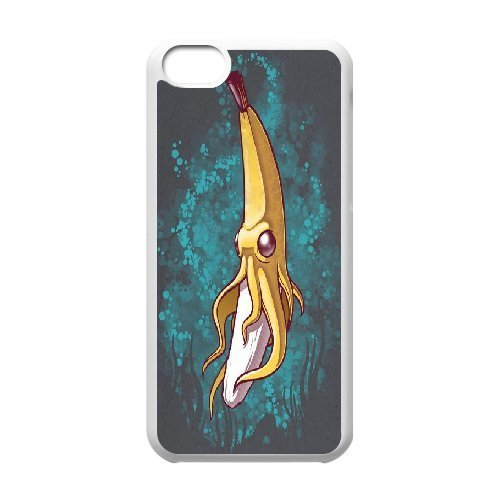 {Banana Series} IPhone 5C Case Banana Squid, Case Doah - White