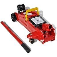 vidaXL Cric hydraulique roulant 2 tonnes Rouge Cric Hydraulique 2 Tonnes Cric roulant