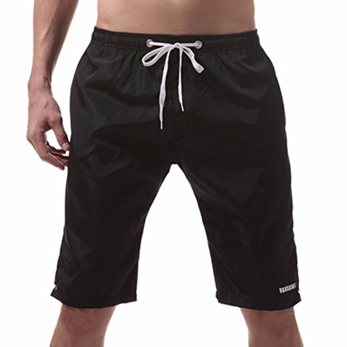 Cebbay Men Shorts, Summer Beach Quick Dry Swim Trunks Solid Knee-Length with 2 Pocket for Surfing Running Swimming Boxing
