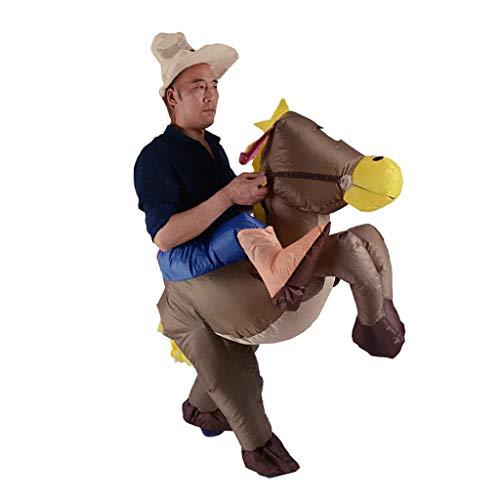 LOVIVER Aufblasbare Esel Kostüm Reiter Outfit Kostüm Halloween Cosplay Prop